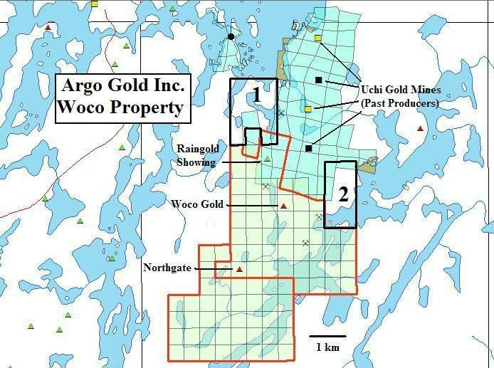 Argo Gold New Claim Blocks at Woco