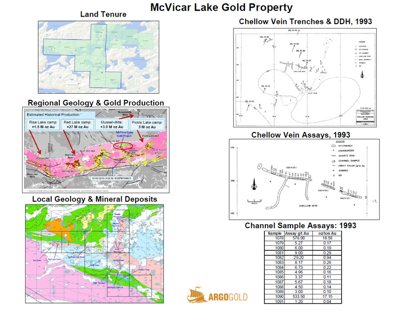 McVicar Lake Gold Property