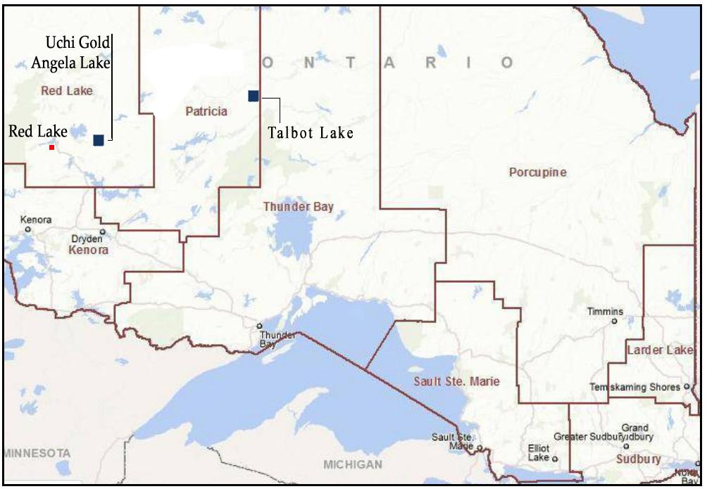 Nordwest-Ontario-Karte