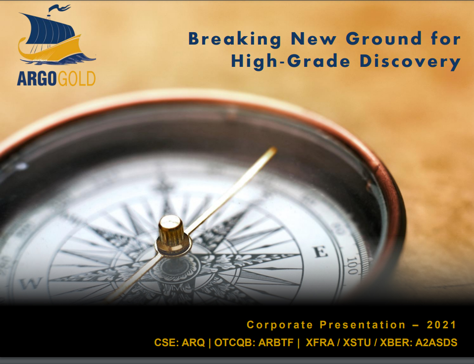 Argo Gold Presentation Title Page - 2021